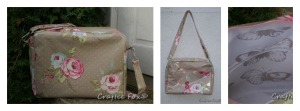 biege oilcloth collage